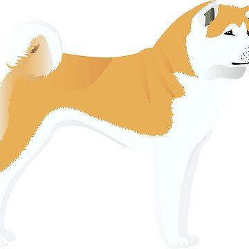 Akita dog by Marishkayu