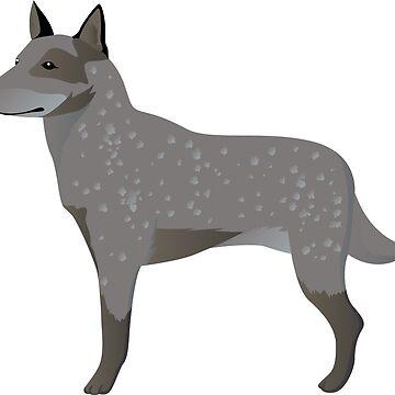Australian cattle dog by Marishkayu