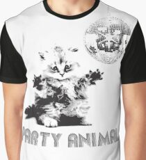 Party Animal Cat Graphic T-Shirt