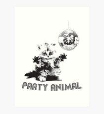 Party Animal Cat Art Print