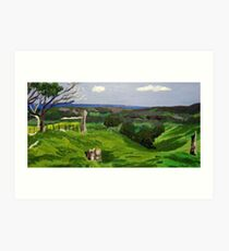"""View from """"Mullaghmore"""", The Range SA Art Print"""