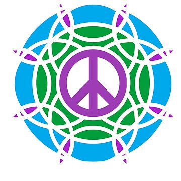 t-shirts with peace and spiral logo by oscarmega