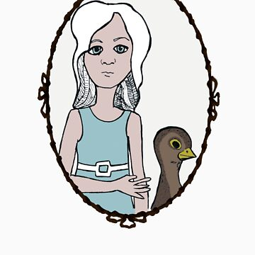 Frock n Bird T-shirt  by KathleenDonnelly