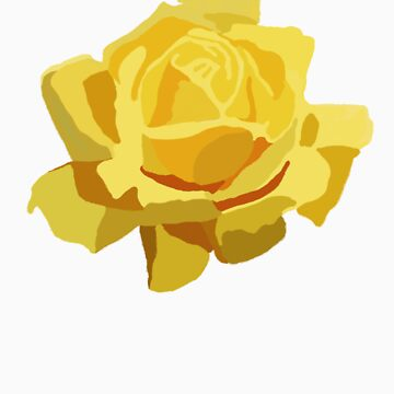 Yellow rose by Fefferoni