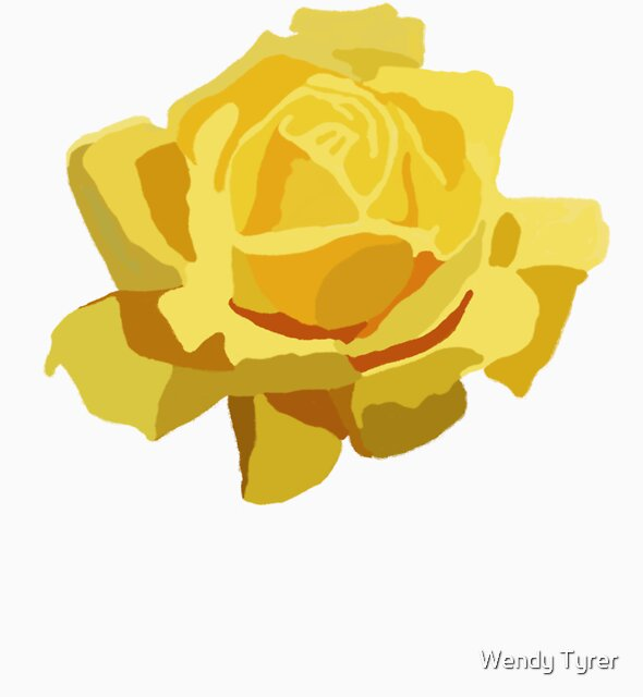Yellow rose by Wendy Tyrer