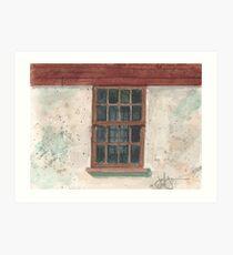 Cottage Window Art Print