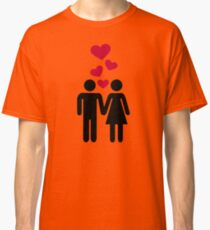Couple red heart Classic T-Shirt