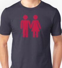 Red man woman couple Unisex T-Shirt