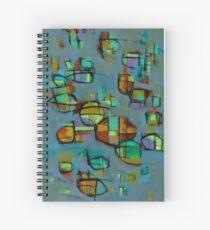 Moody Fireflies Spiral Notebook