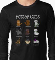 Harry Pawter Cute Kitten Potter Cats Long Sleeve T-Shirt