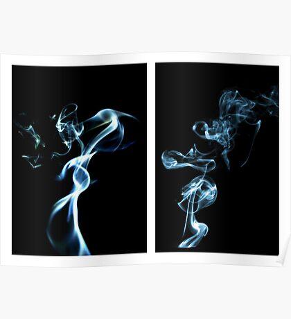 Incense smoke art III Poster