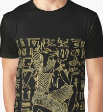 Egyptian Anubis & Hieroglyphics Graphic T-Shirt