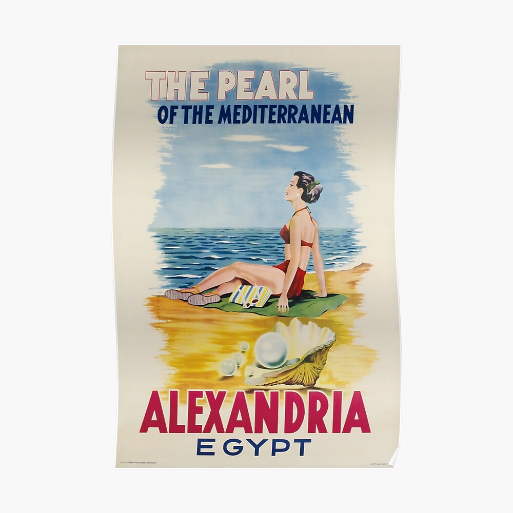 Alexandria,Egypt,Travel Poster Poster - Egypt Wall Decor