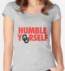Humble Yourself (Red/Black) Women's Fitted Scoop T-Shirt