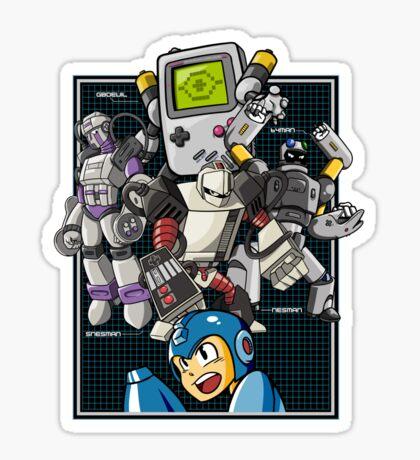 Console Master Robots Sticker