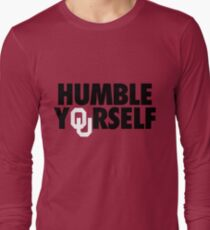 Humble Yourself (Black/White) Long Sleeve T-Shirt