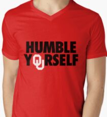 Humble Yourself (Black/White) Men's V-Neck T-Shirt