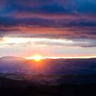 Sunbeams over the Valley by Dilshara Hill