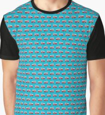 Fireman Repeated Pattern Graphic T-Shirt