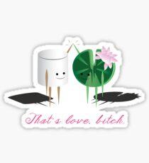 Marshmellow and Lilypad Sticker