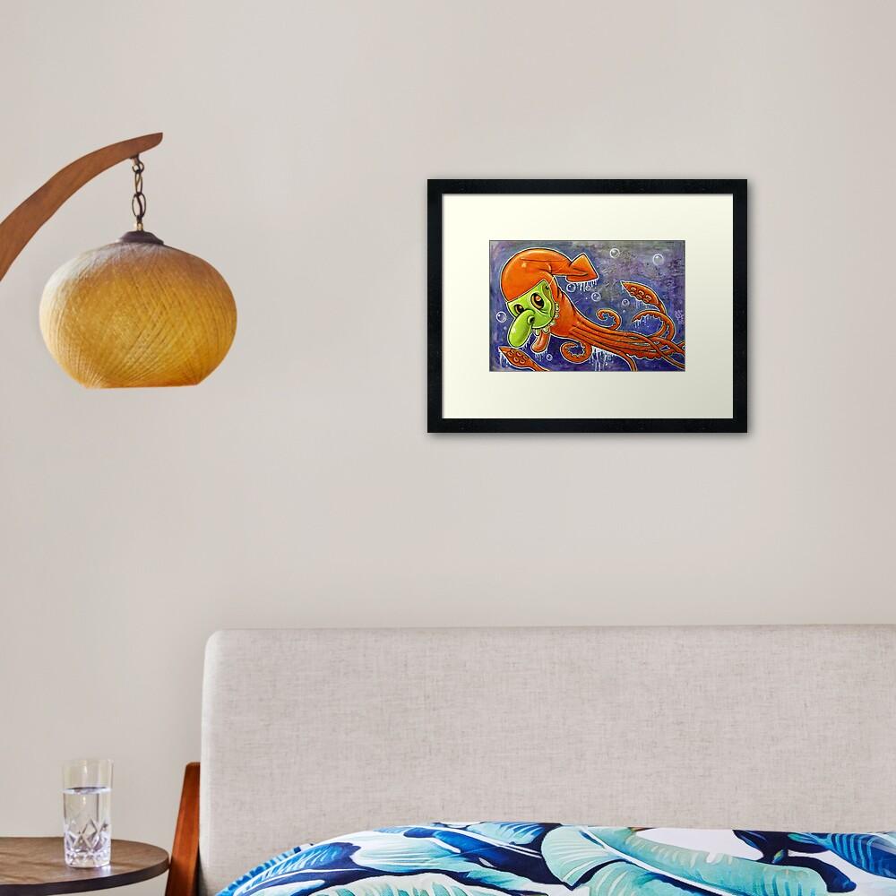 Dynamite Squid Framed Art Print