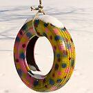Tire Swing in Winter by Kent Nickell