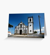 Church in Azores islands Greeting Card