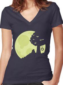Moonlit Women's Fitted V-Neck T-Shirt