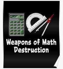 Weapons Of Math Destruction Science Teacher Pun Poster