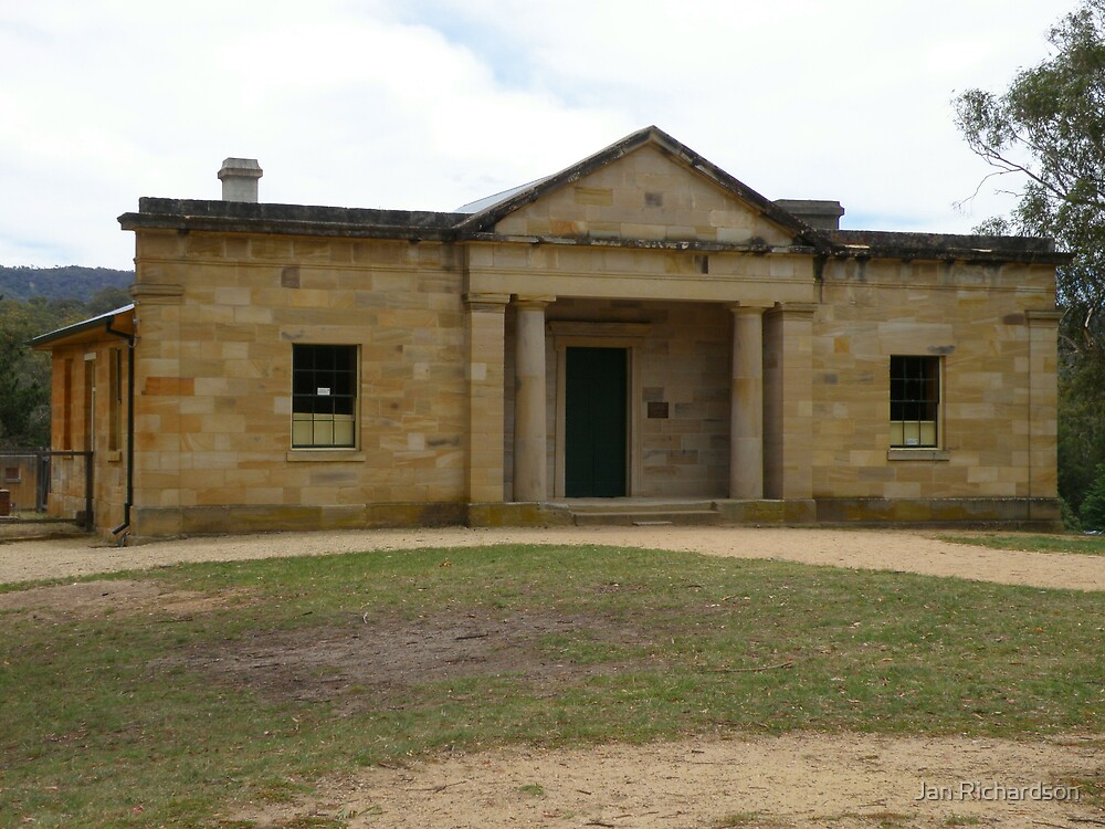 The Court House at Hartley, NSW. by Jan Richardson