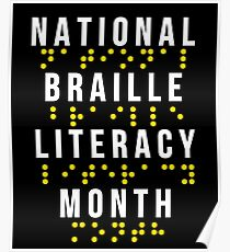 Trendy Braille | NATIONAL BRAILLE LITERACY MONTH cool graphic design Poster