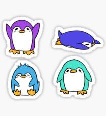 Squishy Penguin Stickers Sticker