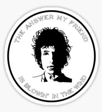 Bob Dylan - Blowin' in the Wind Sticker