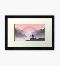 Helvena and the Mist Framed Print
