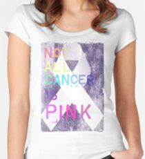 Not All Cancer Is Pink  Women's Fitted Scoop T-Shirt
