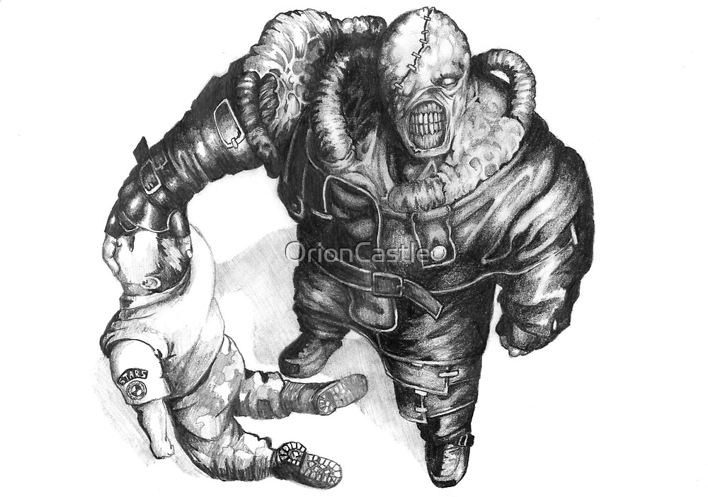 Nemesis Of Resident Evil By Orioncastle Redbubble