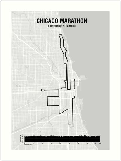 Chicago Marathon Map on
