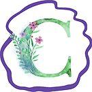 Monogramm-Buchstabe C | Aquarell von PraiseQuotes