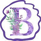Monogramm-Buchstabe B | Aquarell von PraiseQuotes