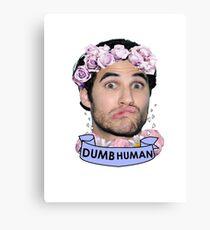 Darren Criss Dumb Human Canvas Print