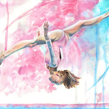 Gymnast in Water Color by missmuffin