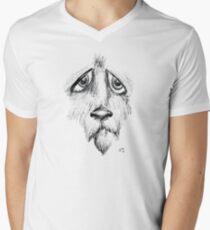 Sad Eyes Puppy Men's V-Neck T-Shirt