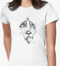 Sad Eyes Puppy Women's Fitted T-Shirt