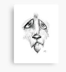 Sad Eyes Puppy Metal Print