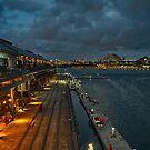 Full moon at Jones Bay Wharf by andreisky