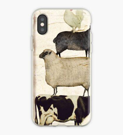 Farm Animal Tree iPhone Case
