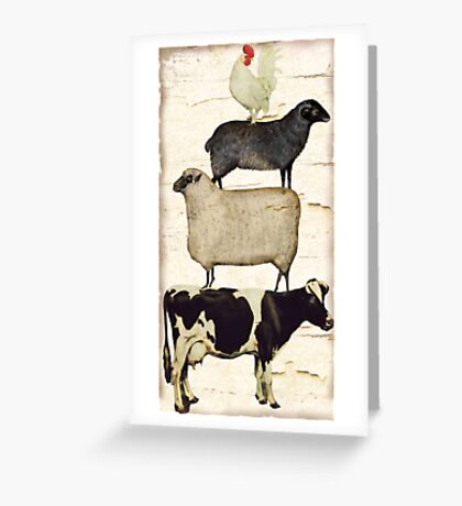 Farm Animal Tree Greeting Card