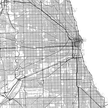 Chicago Minimalist Map by MishiInk