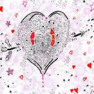 Heart overflowing valentines clothing and decor tile pattern 1 by Regina Valluzzi