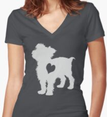 Adore Yorkies: Version Two Women's Fitted V-Neck T-Shirt